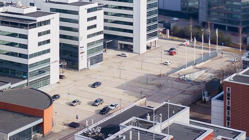 Life Science Center uudiskohde parkkipaikka